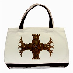 Cross Golden Cross Design 3d Basic Tote Bag by Nexatart