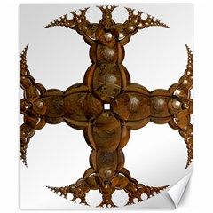 Cross Golden Cross Design 3d Canvas 8  X 10  by Nexatart