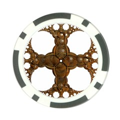 Cross Golden Cross Design 3d Poker Chip Card Guard