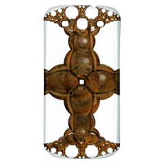Cross Golden Cross Design 3d Samsung Galaxy S3 S Iii Classic Hardshell Back Case