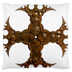 Cross Golden Cross Design 3d Standard Flano Cushion Case (one Side) by Nexatart