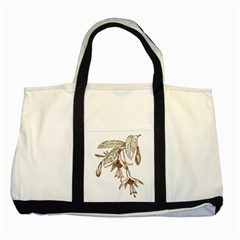 Floral Spray Gold And Red Pretty Two Tone Tote Bag by Nexatart