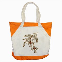 Floral Spray Gold And Red Pretty Accent Tote Bag by Nexatart