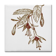 Floral Spray Gold And Red Pretty Face Towel by Nexatart