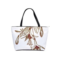 Floral Spray Gold And Red Pretty Shoulder Handbags