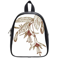 Floral Spray Gold And Red Pretty School Bags (small)