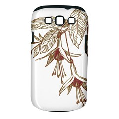 Floral Spray Gold And Red Pretty Samsung Galaxy S Iii Classic Hardshell Case (pc+silicone) by Nexatart