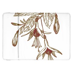 Floral Spray Gold And Red Pretty Samsung Galaxy Tab 8 9  P7300 Flip Case by Nexatart