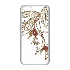 Floral Spray Gold And Red Pretty Apple Iphone 5c Seamless Case (white)