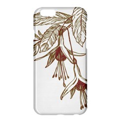 Floral Spray Gold And Red Pretty Apple Iphone 6 Plus/6s Plus Hardshell Case by Nexatart