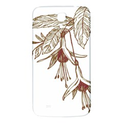 Floral Spray Gold And Red Pretty Samsung Galaxy Mega I9200 Hardshell Back Case by Nexatart