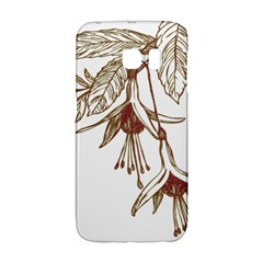 Floral Spray Gold And Red Pretty Galaxy S6 Edge by Nexatart
