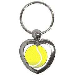 Tennis Ball Ball Sport Fitness Key Chains (heart)  by Nexatart