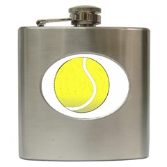 Tennis Ball Ball Sport Fitness Hip Flask (6 Oz)