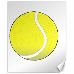 Tennis Ball Ball Sport Fitness Canvas 16  X 20   by Nexatart