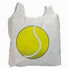 Tennis Ball Ball Sport Fitness Recycle Bag (one Side) by Nexatart