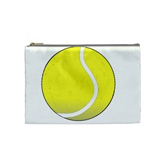 Tennis Ball Ball Sport Fitness Cosmetic Bag (medium)  by Nexatart