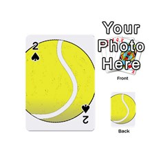 Tennis Ball Ball Sport Fitness Playing Cards 54 (mini)  by Nexatart