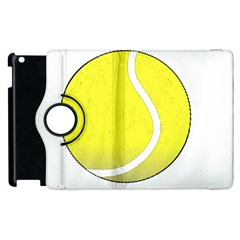 Tennis Ball Ball Sport Fitness Apple Ipad 2 Flip 360 Case by Nexatart