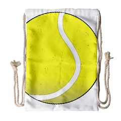 Tennis Ball Ball Sport Fitness Drawstring Bag (large) by Nexatart