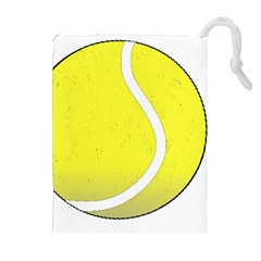 Tennis Ball Ball Sport Fitness Drawstring Pouches (extra Large) by Nexatart