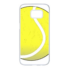 Tennis Ball Ball Sport Fitness Samsung Galaxy S7 Edge White Seamless Case by Nexatart