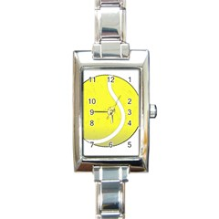 Tennis Ball Ball Sport Fitness Rectangle Italian Charm Watch by Nexatart