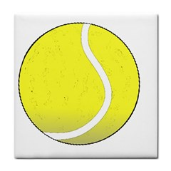 Tennis Ball Ball Sport Fitness Tile Coasters by Nexatart