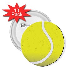 Tennis Ball Ball Sport Fitness 2 25  Buttons (10 Pack)  by Nexatart
