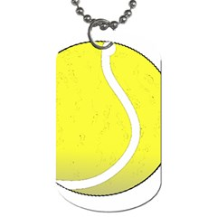 Tennis Ball Ball Sport Fitness Dog Tag (one Side) by Nexatart