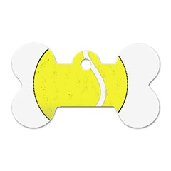 Tennis Ball Ball Sport Fitness Dog Tag Bone (two Sides) by Nexatart