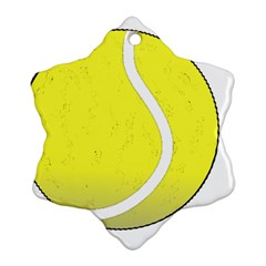 Tennis Ball Ball Sport Fitness Snowflake Ornament (two Sides)