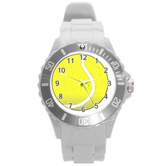 Tennis Ball Ball Sport Fitness Round Plastic Sport Watch (l) by Nexatart