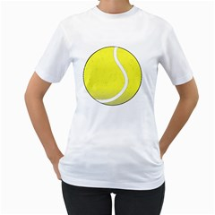 Tennis Ball Ball Sport Fitness Women s T Shirt (white)  by Nexatart