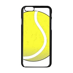 Tennis Ball Ball Sport Fitness Apple Iphone 6/6s Black Enamel Case by Nexatart