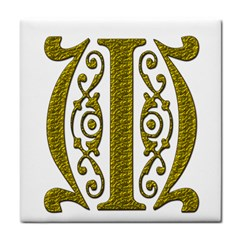 Gold Scroll Design Ornate Ornament Tile Coasters by Nexatart
