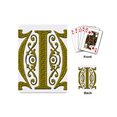 Gold Scroll Design Ornate Ornament Playing Cards (mini)