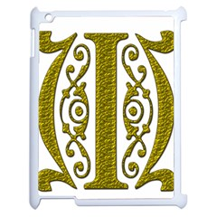 Gold Scroll Design Ornate Ornament Apple Ipad 2 Case (white) by Nexatart