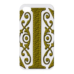 Gold Scroll Design Ornate Ornament Apple Iphone 4/4s Premium Hardshell Case