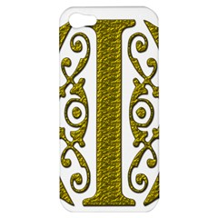 Gold Scroll Design Ornate Ornament Apple Iphone 5 Hardshell Case by Nexatart