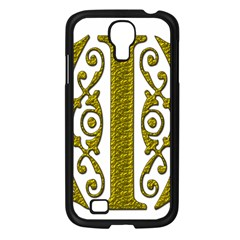 Gold Scroll Design Ornate Ornament Samsung Galaxy S4 I9500/ I9505 Case (black) by Nexatart