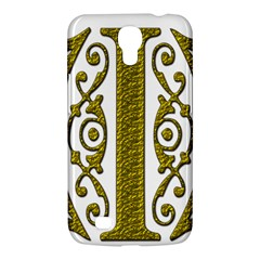 Gold Scroll Design Ornate Ornament Samsung Galaxy Mega 6 3  I9200 Hardshell Case by Nexatart