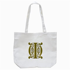 Gold Scroll Design Ornate Ornament Tote Bag (white) by Nexatart
