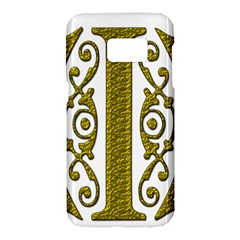 Gold Scroll Design Ornate Ornament Samsung Galaxy S7 Hardshell Case