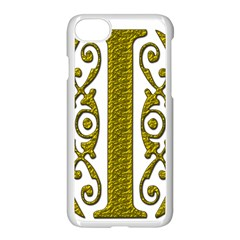 Gold Scroll Design Ornate Ornament Apple Iphone 7 Seamless Case (white)