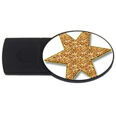 Star Glitter Usb Flash Drive Oval (4 Gb) by Nexatart