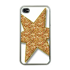 Star Glitter Apple Iphone 4 Case (clear)