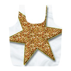 Star Glitter Full Print Recycle Bags (l)  by Nexatart
