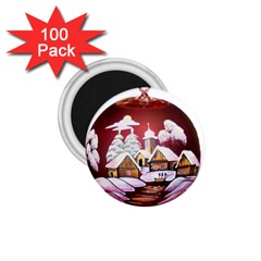 Christmas Decor Christmas Ornaments 1 75  Magnets (100 Pack)  by Nexatart