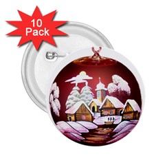Christmas Decor Christmas Ornaments 2 25  Buttons (10 Pack)  by Nexatart